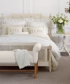 Get bedroom decorating ideas and inspiration, and learn how designers put bedroom furniture sets together. Plan your bedroom makeover with Ethan Allen. White Bedroom, Master Bedroom, Bedroom Bed, Bed Room, Bedroom Furniture, Bedroom Decor, Bedroom Ideas, Design Bedroom, French Bed
