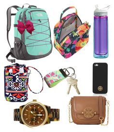 """""""School essentials"""" by beyondpreppy ❤ liked on Polyvore featuring The North Face, Vera Bradley, Lilly Pulitzer, Tory Burch and Michael Kors"""