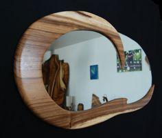 Custom Made Seaside Handmade Wooden Mirror Epoxy, Wood Wall Art Decor, Wood Framed Mirror, Handmade Wooden, Natural Wood, Seaside, Hardwood, Indoor, Mirrors