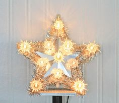 Star Tree Topper Christmas Tree Star Kodak Light Up by MollyFinds, $25.00