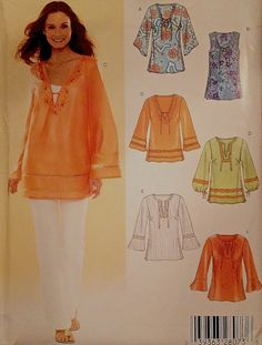 Peasant BOHO TOP Sewing Pattern ~ OOP & LAST ONE! SOLD!