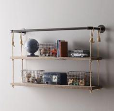 Industrial Pipe & Rope Shelf