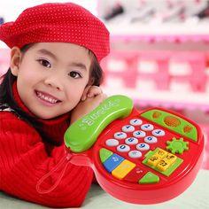 Elektrische Telefoon Speelgoed Kids Kind Muziek Telefoon Studie Educatief Speelgoed Gift Vroeg Leren Elektronische Telefoon