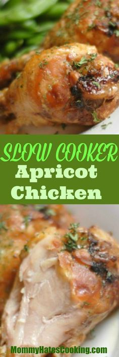 Slow Cooker Apricot Chicken - Mommy Hates Cooking - This is a great dish with just a few ingredients, plus naturally gluten free! #glutenfree