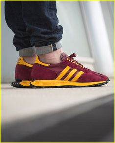 new arrivals e2c27 e02e2 Red Sneakers, Leather Sneakers, Sneakers Fashion, Summer Sneakers, Mens  Leather, Running