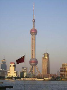 Shanghai China - Pearl Tower Skyline