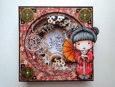 *ClayGuana: Boxed Tunnel Card - Kimono Marci (La-La Land Crafts)