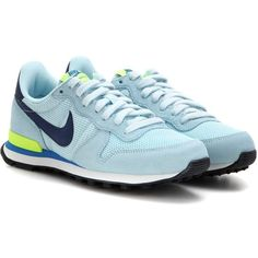 Nike Nike Internationalist Sneakers ($105) ❤ liked on Polyvore featuring shoes, sneakers, blue, nike footwear, nike shoes, nike trainers, blue shoes and nike