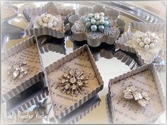 Repurposing! Make some lovely ornaments using cookie cutters and old jewelry. #CookieCuttercom