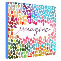 Found it at Wayfair - Imagine Canvas Art - I think this would be easy to make and so cute with children's fingerprints. Maybe a teacher gift?