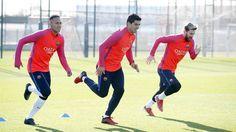 """""""Trio MSN no treino de hoje."""""""