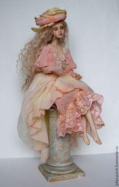 Купить Авторская кукла Чайная роза - кремовый, кукла ручной работы, авторская кукла