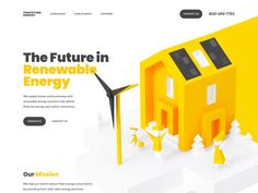 Bringing life to our landing design for a renewable energy company! Here we're using the benefits of animation. It's a fascinating way to grab people's attention. The Visit our animation is ab. Renewable Energy For Kids, Renewable Energy Companies, Renewable Energy Projects, Solar Projects, 3d Video, Energy Resources, Energy Storage, Sustainable Energy, Design Graphique