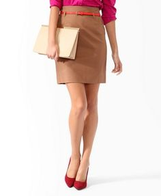 Essential Belted Skirt | FOREVER21 - 2000048672