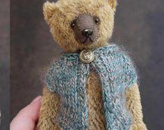 Schäbig Toots Mini Miniatur Künstler Teddy Bär von von aerlinnbears