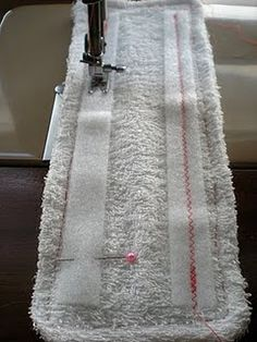 DIY Swiffer Wetjet pad.  This will save $!  And it's washable.