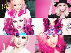 perrie edwards << with her amazing pink hair  God she is so pretty I'm glad he and Zayn are getting married they are so happy together and I'm glad for them :) <3