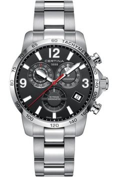 Certina Watch DS Podium Chrono GMT Watch available to buy online from with free UK delivery. World Of Sports, Sport Watches, Rolex Watches, Baselworld 2017, Accessories, Ds, Projects, Men's Watches, Style