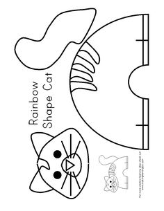 Children's activity and craft templates. Valentine's Day Crafts For Kids, Animal Crafts For Kids, Fun Arts And Crafts, Art For Kids, Cat Template, Templates, Zoo Phonics, Farm Crafts, Farm Theme