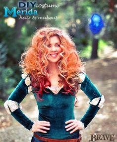 DIY Princess Merida Hair & Makeup Tutorial + Brave Costume w/link to DIY Costume, from Maegan Tintari at Babble Beauty