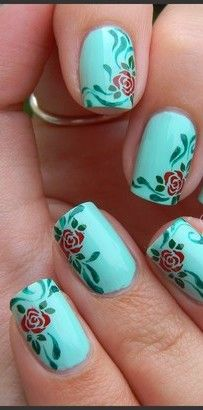 cool Free Online Picture Resizer - Crop and Resize photos, images, or pictures online for FREE! Rose Nail Design, Rose Nail Art, Rose Nails, Flower Nail Art, Fingernail Designs, Nail Art Designs, Gorgeous Nails, Pretty Nails, Manicure Y Pedicure