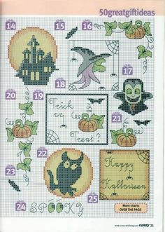 Page 2 of 4 Small Halloween Motifs • 50 in all and free