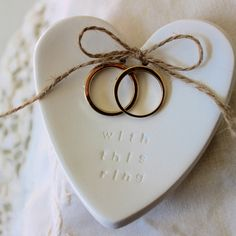 Buy gifts online from Hard to Find gifts Australia. Hard to Find homewares online & gifts for him, gifts for her, gifts for kids, unique gift ideas & presents Polymer Clay Crafts, Polymer Clay Jewelry, Heart Wedding Rings, Diy Clay Earrings, Clay Ornaments, Ring Pillow, Hanging Hearts, Sculpture Clay, White Clay