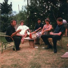 Only existing photo of Ingrid Jonker and André Brink together (with Etienne Leroux, Jan Rabie and Marjorie Wallace)