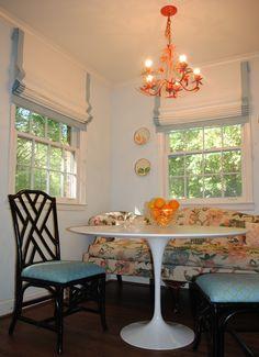 Recliner Sofa flat roman shade FABRIC cotton COLOR white BORDER sky http Breakfast Nook SetKitchen SofaRoman