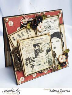 Card, Communique Deluxe Collectors Edition, Arlene Cuevas, By Graphic 45