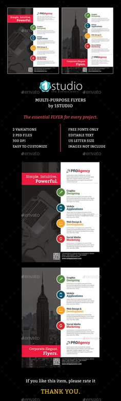 Corporate Flyers  Simple Style Layering And Filing