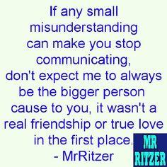 #MrRitzer #Communication