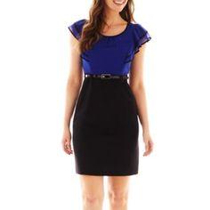 Liz Claiborne Short Sleeve Wrap Dress Plus Found At