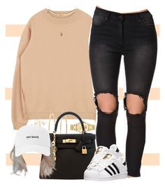 """""""You Know I Got The Sauce"""" by oh-aurora ❤ liked on Polyvore featuring Movado, Brooks Brothers, Hermès, UNIF, adidas and Topshop"""