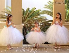 These are the type of tutu's i want for the girls- Frilly Fairy Tales - Flower Girl (With Sashes)