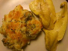 gratinado de couve-flor + filete de pescada