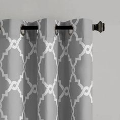 Product Image for Madison Park Essentials Merritt Printed Fret Grommet Window Curtain Panel Pair 2 out of 2