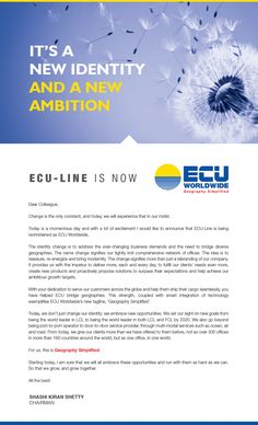 Our New Identity - ECU Worldwide