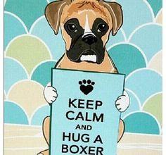 KEEP CALM AND HUG A BOXER ❤