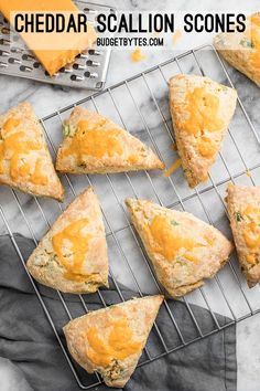 These soft, flakey Cheddar Scallion Scones are a breeze to prepare and make a great side for soups, stews, and chili! BudgetBytes.com