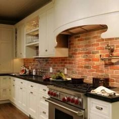 what colors are good for kitchens brick backsplash idea makes your kitchen looks beautiful 9627