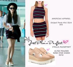 Just Plain Perfect: f(x) Victoria Song Airport Fashion
