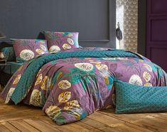 b24b0951e72c6 Idées cadeaux jusqu à -40%. Linge de lit motif fleurs émeraude - BECQUET  CRÉATION