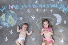 picture idea and chalk - use for Mother's day, Father's day or Grandparent's day!