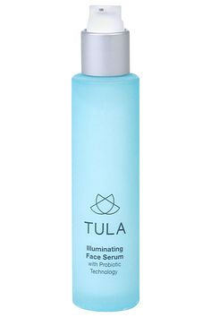 Check out Tula, a new skin-care line developedby Roshini Raj, a New York gastroenterologist. Each product contains peptides, antioxidants, and probiotics (yes, the same kind found in your yogurt parfait) to combat sensitive-skin issues like acne and balance inflammation and redness. Tula Illuminating Face Serum, $75, tulaforlife.com.   - HarpersBAZAAR.com