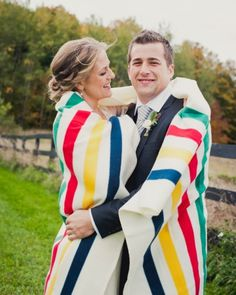Taking your portraits in chilly weather? Stay warm with a colorful prop