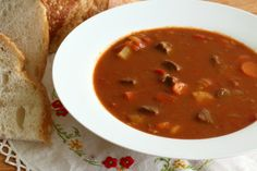 Traditional Hungarian Goulash (Gulyás)