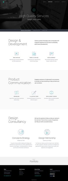 A responsive website highlighting BONS (Design & Development Agency) services and value proposition.