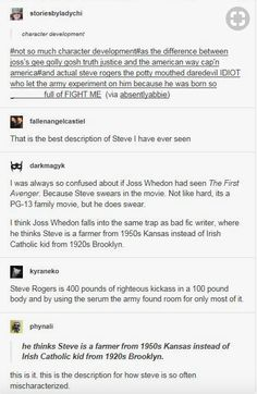 Steve Rogers is 400 pounds of righteous fury in a 100 pound body and by giving him the serum the government found room for only most of it