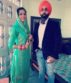 Punjabi Wedding Couple, Punjabi Couple, Sikh Wedding, Wedding Couples, Sweet Couples, Cute Couples, Indian Wedding Photography, Couple Photography, Ammy Virk
